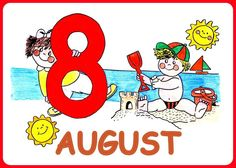 August Weather Seasons, Disney Characters, Fictional Characters, Symbols, Comics, School, Spanish, Seasons Of The Year, World