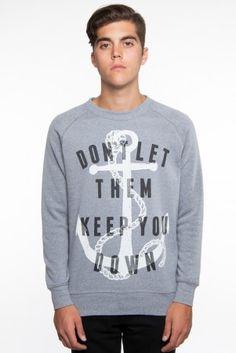Glamour Kills Clothing - Guys Anchor Down Sweatshirt