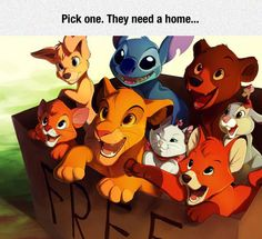 Which One Would You Pick? <<< probably Stitch XD