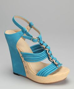 Take a look at this Blue Adrianna Wedge by Rosette on #zulily today! love these shoes!