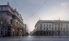 #Piazzadellascala #Milano Project: #LopesBrenna, #Render: #FilippoBolognese #filippobologneseimages  http://www.filippobolognese.ch/images #3d #architecture #archiviz #visualization