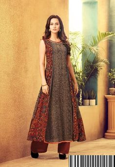 Star In You designer kurti . Pakistani Dresses, Indian Dresses, Indian Outfits, Kurta Patterns, Frock Patterns, Simple Dresses, Casual Dresses, Modest Fashion, Fashion Outfits