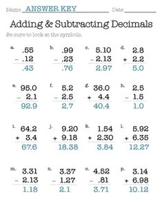 Multiplying by powers of ten with decimals decimals