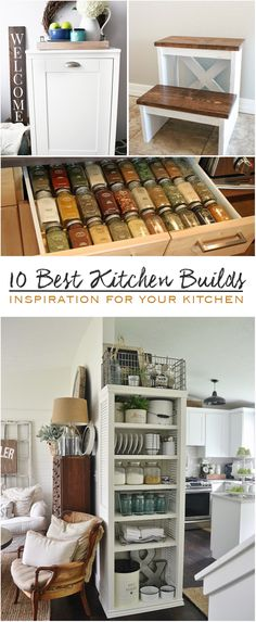 I found 10 Best Kitchen Builds to improve your kitchen, some of these are super easy and can be built in a just a few hours, here we so...