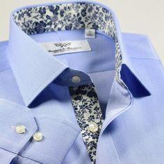 Business Shirts, Business Dresses, Men's Fashion, Fashion Outfits, Fashion Design, Formal Shirts For Men, Cutaway Collar, Create Shirts, Egyptian Cotton