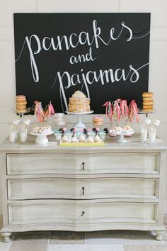 Pancakes and pajamas birthday party: http://www.stylemepretty.com/living/2016/09/01/pancakes-and-pajamas-a-k-a-the-best-sleepover-party-idea-ever/ Photography: Ruth Eileen - http://rutheileenphotography.com/