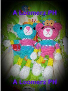 Rainbow Loom Stuffed Teddy Bear - Part 5/5 Torso, Stitching the body parts tutorial by A Loomerz PH
