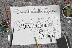FREE font of the week - Script font with alternates easily accessible in GIMP and Inkscape: Australian Script (commercial license)