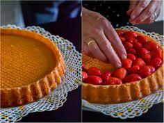 Erdbeeren, Erdbeerkuchen, Erdbeertorte, Kuchen, Sahne, Tortenboden, Tortenguss, Vanille, Erdbeerboden, hausgemacht, einfach, sehr,