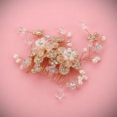 Summer wedding decoration handmade pearl jewelry hair comb head jewelry  #Affiliate
