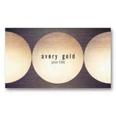Faux Gold Leaf Circle Wood Modern Business Card