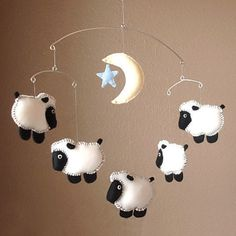 want this for over the bassinet  Counting Sheep Mobile