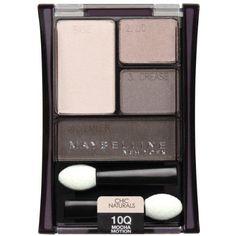 Maybelline New York Expert Wear Eyeshadow Quads 10q Mocha Motion Chic Naturals 0.17 Ounce