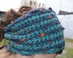 Dread Wrap Loop Tube Haarband/Stirnband Schmuck von wollkaethe auf DaWanda.com