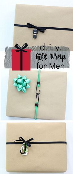 Men are kind of hard to buy for, but these easy DIY gift wrap ideas will impress.
