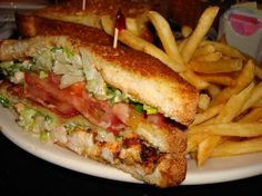 shrimp and bacon club from Cheesecake Factory