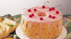 Make a very cherry angel food cake complete with cherry glaze.  The hardest part will be deciding who gets a slice with a cherry on top.