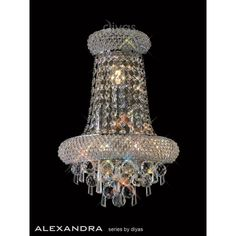 Alexandra 9 Light Semi-Flush Ceiling Fitting in Polished Chrome Finish with Asfour Crystal Detail Wall Lights, Ceiling Lights, Crystal Wall, Chrome Finish, Polished Chrome, Chandelier, Detail, Oui