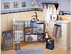 I really want my future child to have a nautical room like this