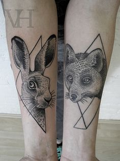 Valentin Hirsch / black work tattoo