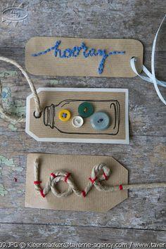 DIY, kraft paper, labels - via Taverne © Rosalie Noordam