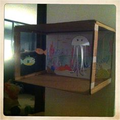 Floating fish tank -side view