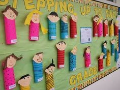 A great way to display self character traits, or even do them as a book character and give the character's traits...can't find it on the blog, but looks like all you need is tp rolls and construction paper.