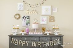 Modern Pink + Gold Birthday Party via Kara's Party Ideas KarasPartyIdeas.com (21)