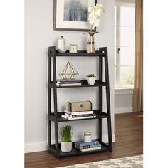Add this Wide Ladder Bookcase to your home decor today for an easy update. After quickly assembling this Wide Ladder Bookcase. you'll find that it's perfect for showing off your favorite photos, storing books and offering a fresh style to your home. Cube Bookcase, Etagere Bookcase, Ladder Bookcase, Bookcases, Vinyl Plank Flooring, Vinyl Flooring, Flooring Cost, Tile Flooring, Laminate Flooring