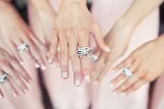 Bow Rings for all the bridesmaids