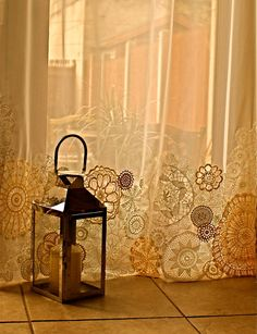 Fresh Breeze doily curtains - sale. $267.00, via Etsy.