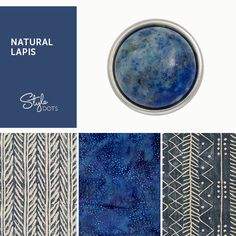 Natural Lapis Dot - a magical hue of the night. Pair it with our foundations!   https://shanette.styledotshome.com/