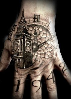 Watch Hand Tattoo - 45+ Eye-Catching Tattoos on Hand