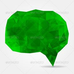 Abstract green geometric speech bubble with triangular polygons ...  abstraction, art, artwork, banner, blank, bubble, chat, cloud, communication, concept, conversation, crystal, decorative, dialog, discussion, eco, empty, foliage, fresh, geometric, graphic, green, idea, illustration, invitation, label, lawn, low, message, modern, mosaic, origami, paper, poly, polygonal, shape, sign, speech, symbol, tag, talk, template, text, texture, think, triangle, triangular, web