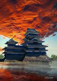 Japanese Castle, Japanese Temple, Japan Architecture, Beautiful Architecture, Osaka, Dojo, Nagano Japan, Samurai Artwork, Cute Love Pictures