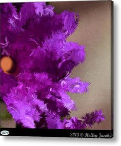 To Paradise Purple Acrylic Print By Holley Jacobs