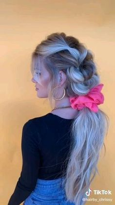Easy Hairstyles For Long Hair, Braids For Long Hair, Cool Hairstyles, Hair Up Styles, Medium Hair Styles, Natural Hair Styles, Hair Videos, Makeup Videos, Aesthetic Hair