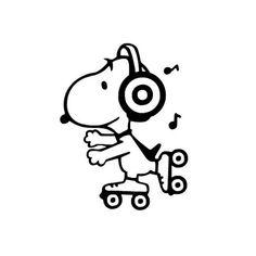Disko Snoopy Vinyl Aufkleber Sticker von TheVinylSweatshop auf Etsy