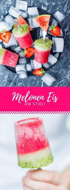 Eis das aussieht, wie Melonen? Das Eis am Stiel kannst du ganz leich nachmachen!