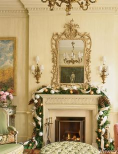 Holiday decor by Charlotte Moss. Holiday decor? Call it what it is... Christmas decor. And it's beautiful.