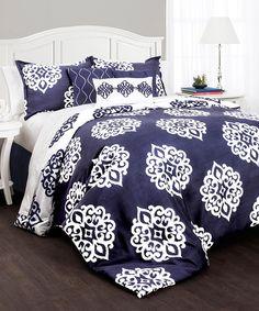 Navy Kristen Comforter Set #zulilyfinds