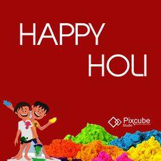Pixcube Studio wishing you and your family Happy Holi. #Pixcubestudio2017 #Pixcubestudio #HappyHoli