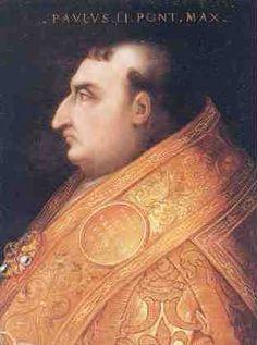 """""""Retrato do Papa Paulo II"""".   (211º Papa). (by Cristofano dell'Altissimo). Nome: Pietro Barbo. (* Veneza, 23/Fevereiro/1417 - Roma, 26/Julho/1471)."""