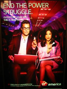 Pin for Later: Virgin America Manages to Make Flying Suck Less — and That& Saying Something Power Outlets Advert Design, Advertising Design, Virgin America, All Airlines, Virgin Atlantic, High Five, Outlets, Aviation, Photo Galleries