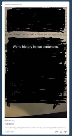 World history in two sentences.