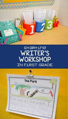 How to start writer's workshop in first grade and develop a love and respect for writing from day one! More