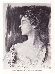 """Mrs. Richard Sears"" - by John Singer Sargent"