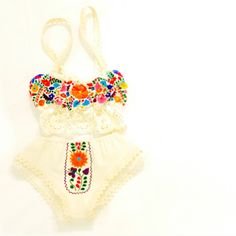 Lingerie Embroidered Mexican Top and Bikini Aida Coronado