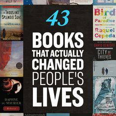 43 Books That Actually Changed People's Lives- A lot of recommended reading I'd like to take on. Nook Book List maybe?
