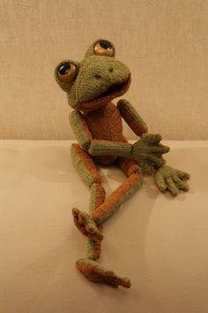 Лягушонок Квинт - авторская кукла,авторская работа,эксклюзивный подарок